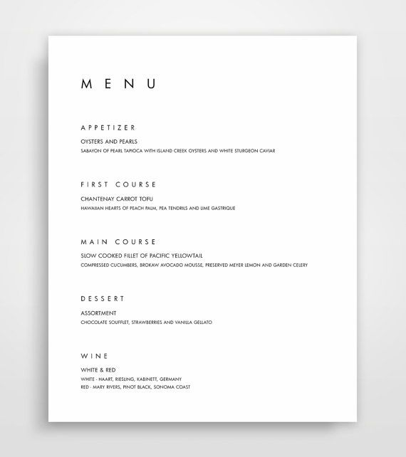 The 25+ best Wedding menu template ideas on Pinterest Free - free word menu template