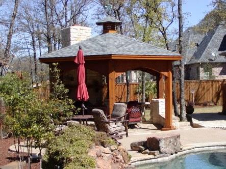 Pool cabana / gazebo Freestanding Permanent structure