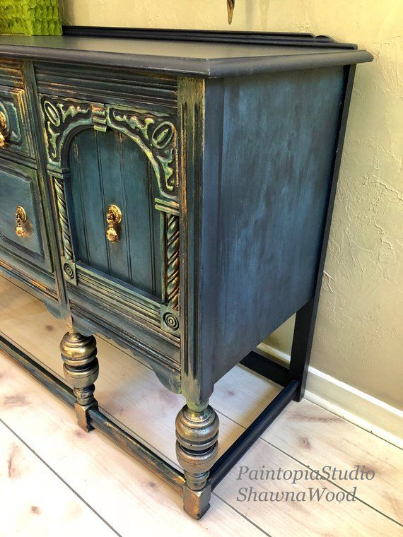 Vintage Sideboard - Dining Room Buffet Sideboard - Jacobean Buffet