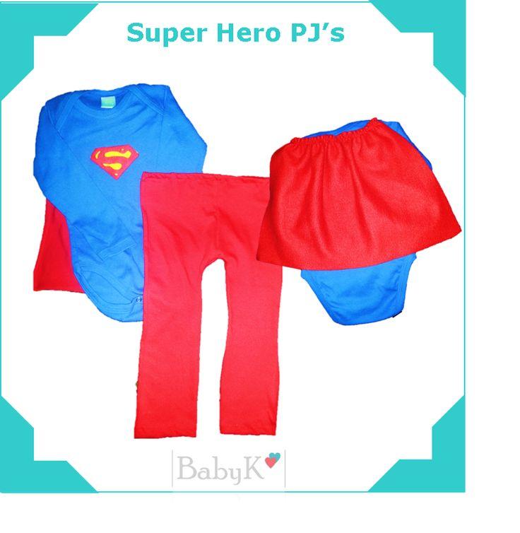 For your little Super Hero!  BabyK Superhero PJ's. Our biggest seller!