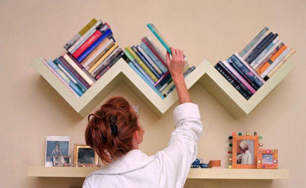 Uma forma divertida de organizar os livros!!