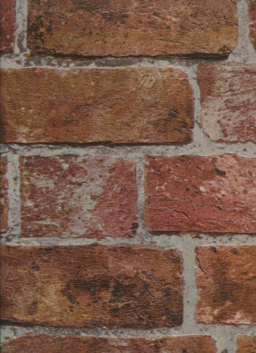 29 best faux brick walls images on pinterest faux brick for Brick wallpaper office
