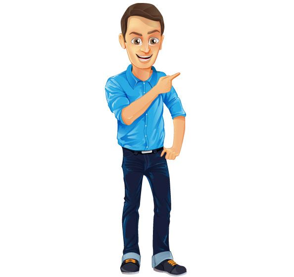 Freebie - Male Vector Character #cartooncharacter #vectorcharacter #character #vector
