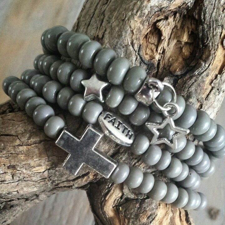 @ gewoonsfeer.nl #bracelets #grey #stars #cross #faith #metal #glass #basic #webshop