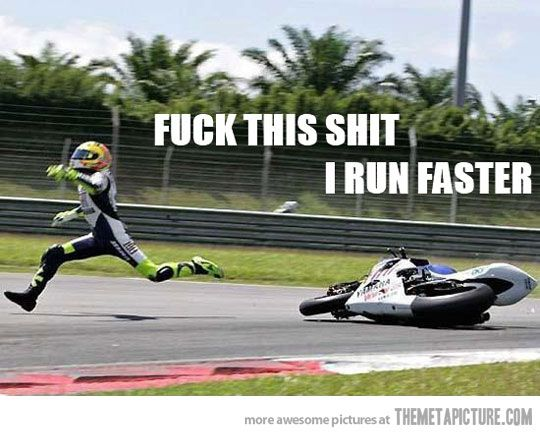 Interesting picture of Valentino Rossi. I bet this hurt.