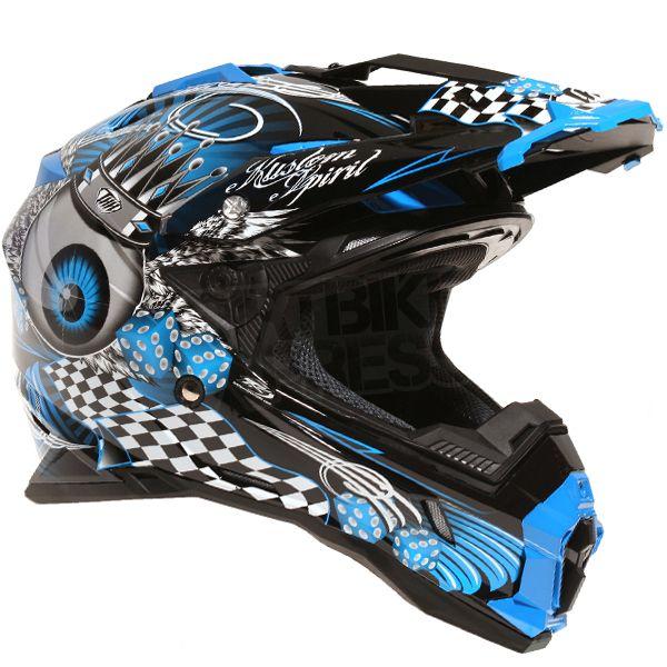THH TX-25 KingEyes Helmet Black Blue