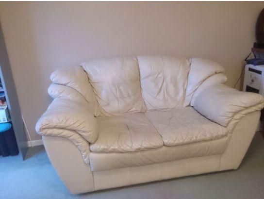 short white leather