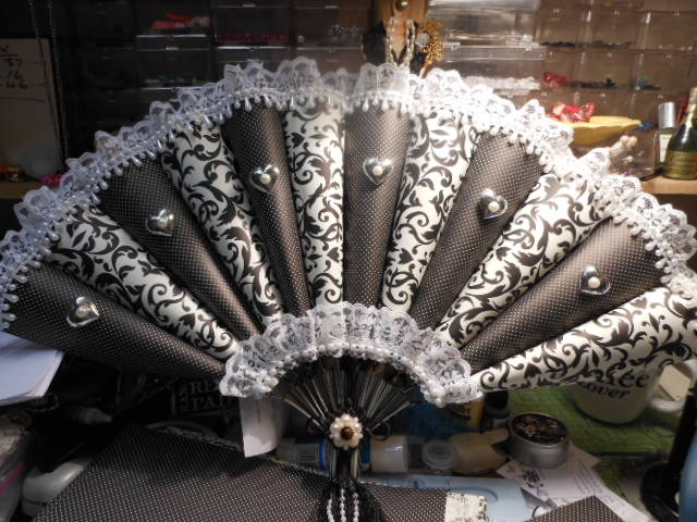 I created this fan from sheets of A4 paper, the collection is Elegance by recollections