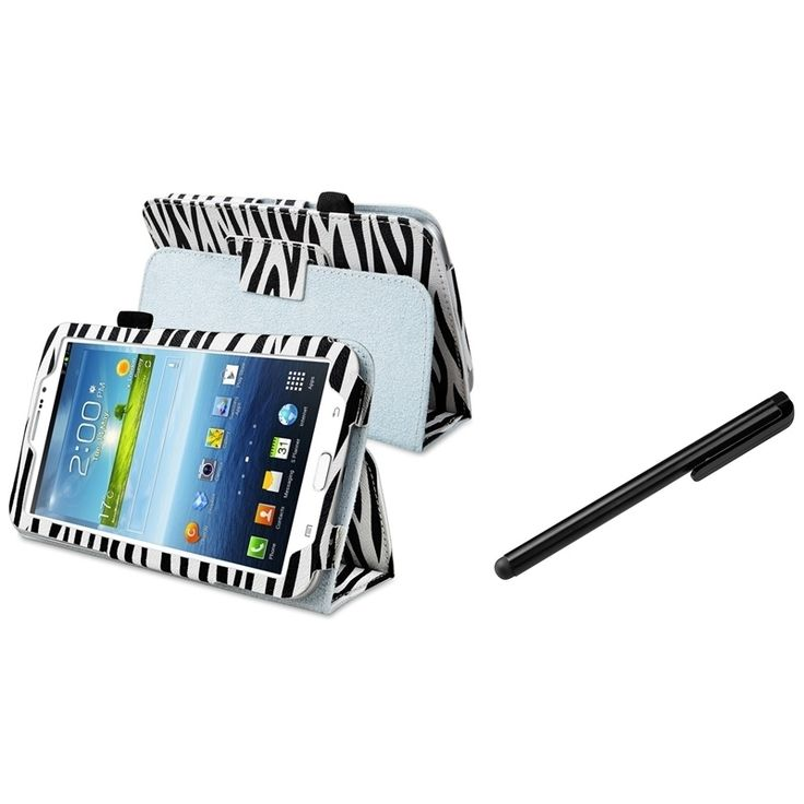Insten Tablet Tablet Case Cover/ Black Stylus for Samsung Galaxy Tab 3 7.0 P3200, #1399168