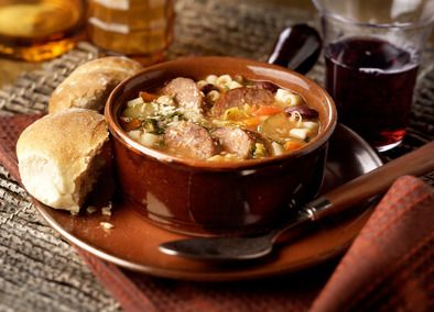 Everyone enjoys a delicious minestrone soup. It's famous for its robust flavors and hearty texture. This Minestrone Soup with Italian Sausage from Johnsonville is sure to be a hit. Johnsonville Italian Sausage simmers with garlic, carrots, onion, cabbage, zucchini, potatoes, red kidney beans, tomatoes, and pasta in beef and chicken broth, on your stove. This makes for a perfect cold weather lunch or dinner!