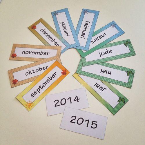 Maanden van het jaar voor je kalender in de klas.