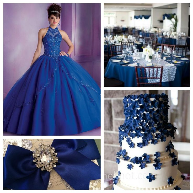 The gallery for gt quinceanera decorations blue