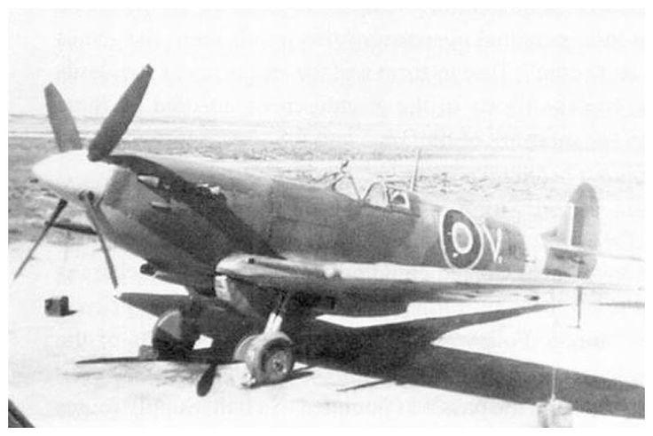Spitfire LF Mk. IX,V, MJ123,№-7Sguadron ,Trigno, Italy 1944