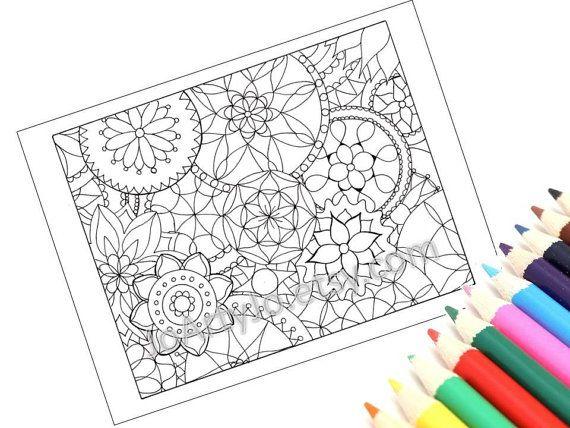 Mandalas Coloring Page Kids Arts and Crafts Printable by JoArtyJo, $2.00