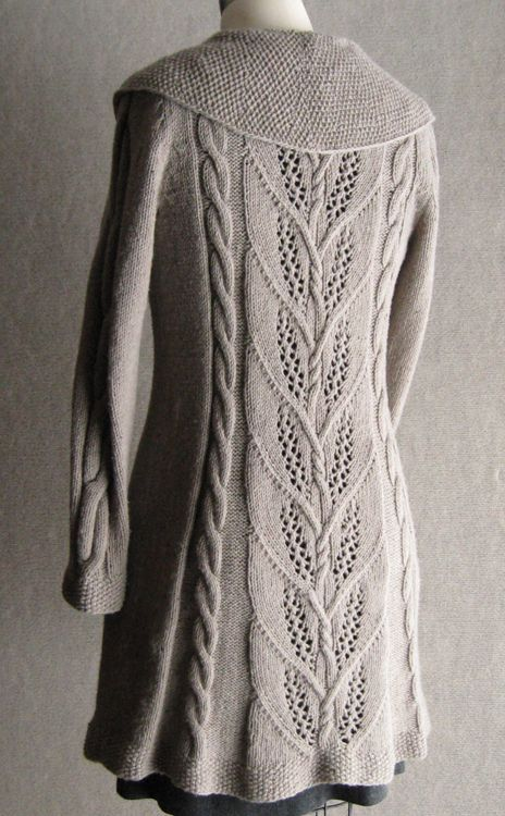Milkweed long jacket. Truly gorgeous, goes straight into my Ravelry queue...