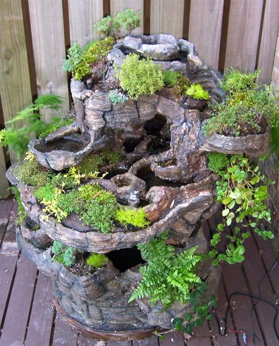 10 best images about fairy gardens on pinterest stone for Fairy garden waterfall