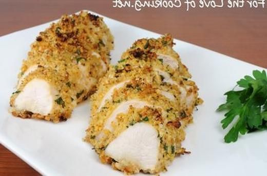 Mustard Herb Panko Crusted Chicken Breasts