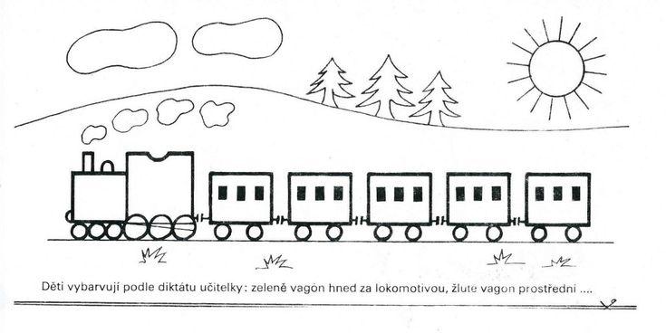Vlak-vybarvování dle diktátu
