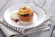 Whole Baked Apples With Vanilla Bean Sauce