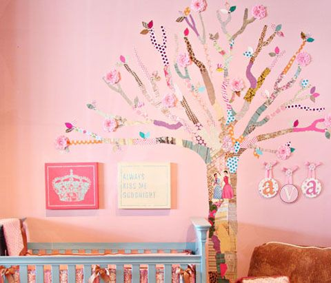 Decoupage tree create your own wall mural this beautiful for Create your own wall mural photo