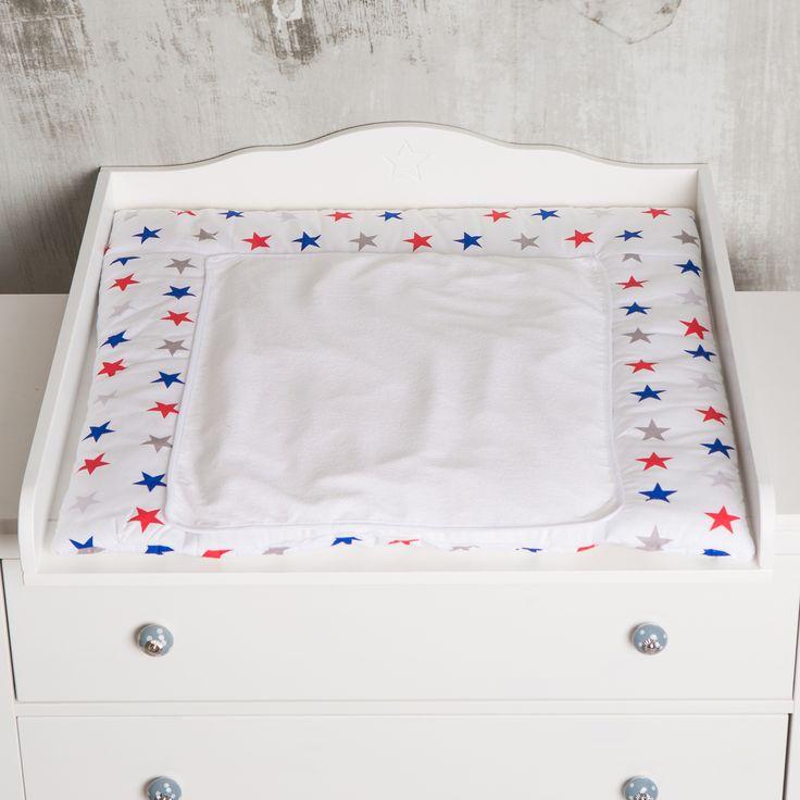 Cute Erfrischend mit sch nen bunten Sternen Puckdaddy Puckdaddy meinwickelaufsatz wickelauflage wickelaufs tze wickeltischauflage