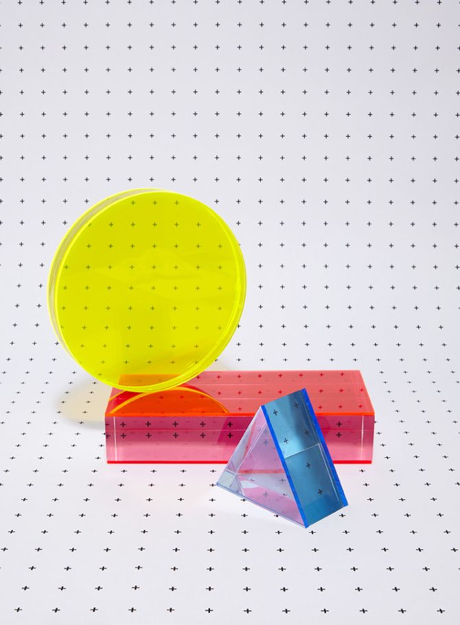 MINTY WARES | Coloured transparent acrylic forms. Riposte - Catherine Losing Photography