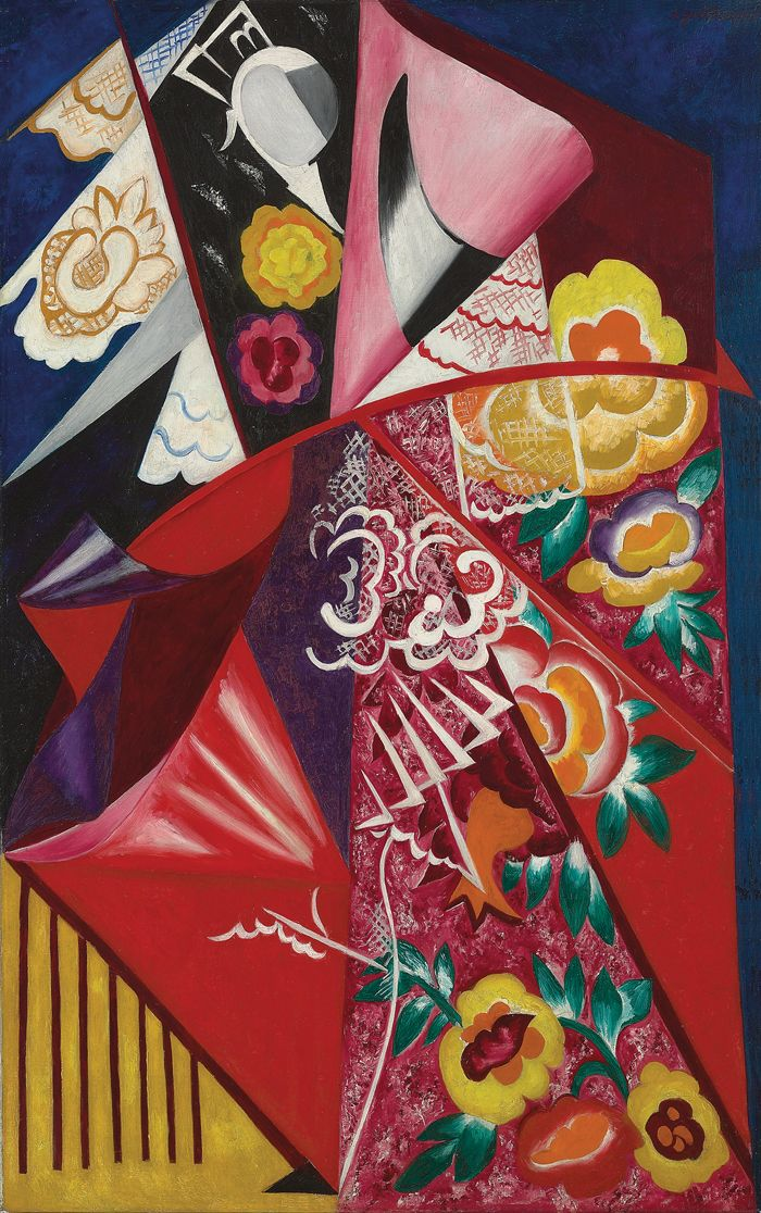 Natalia Goncharova, Espagnole, 1916, which sold for a record $10.2 million at Christie's in 2010. Genuine high-quality works like these are few. COURTESY CHRISTIE'S