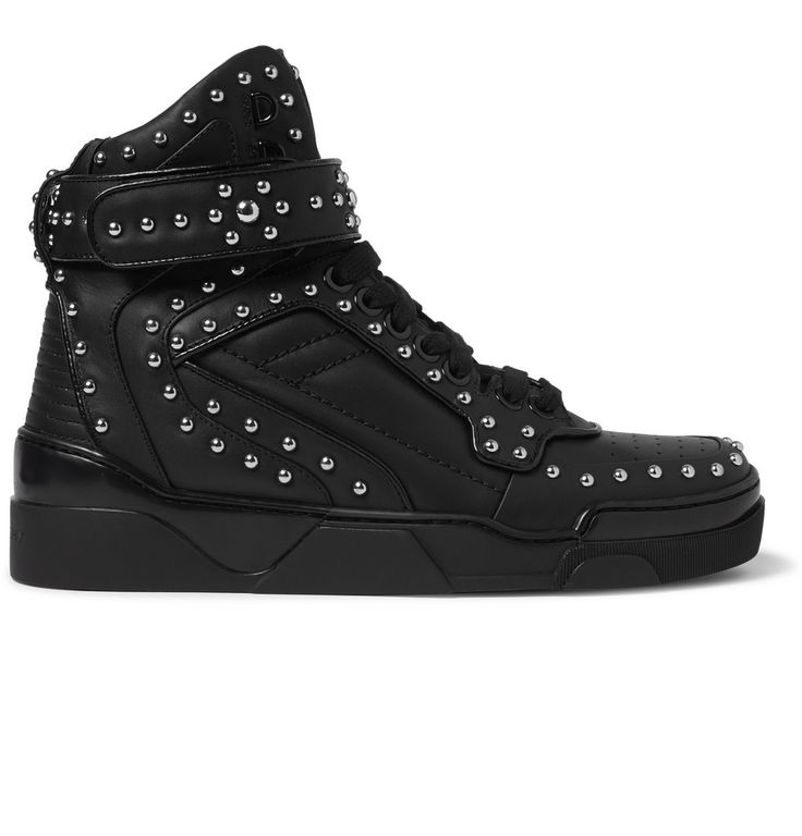 Givenchy - Tyson Studded Leather High-Top Sneakers|MR PORTER