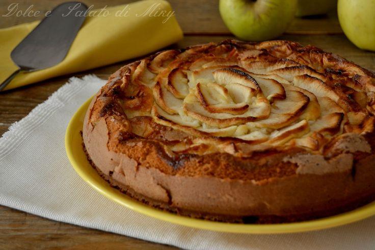 Torta di mele e ricotta, una torta molto soffice senza aggiunta di burro o olio, molto semplice da preparare anche per i meno esperti.