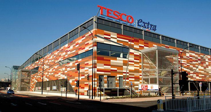Hunter Douglas Facade at Tesco Superstore in Sheffield, UK .#hunter douglas #facades #architecture