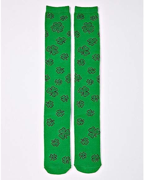 6b185d51b Shamrock St. Patrick s Day Knee High Socks - Spencer s