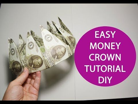 Money Crown of 9 banknotes Origami Dollar Folded T…