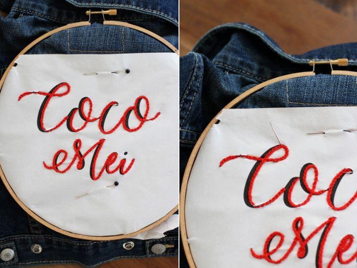 Вышитые буквы на джинсе (Diy) / Вышивка / ВТОРАЯ УЛИЦА