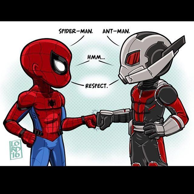 Spider- Man meet Ant-Man in Captain America: Civil War (2016). Bug-Bros!