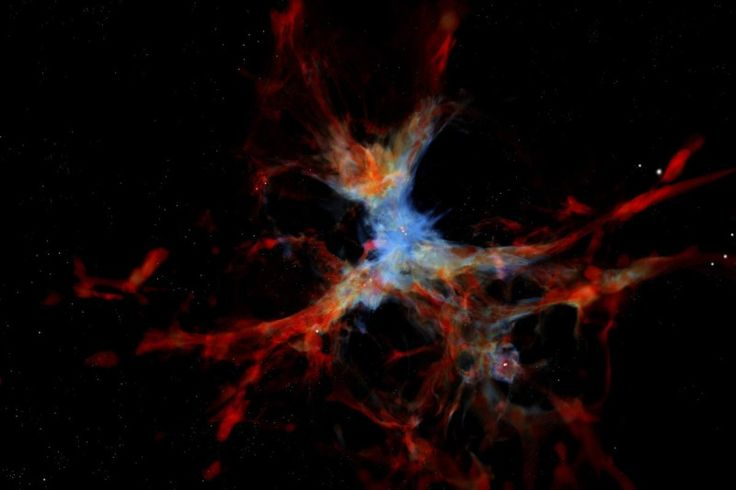We've long thought that galaxies grew fat by devouring gas from a mesh of dark…