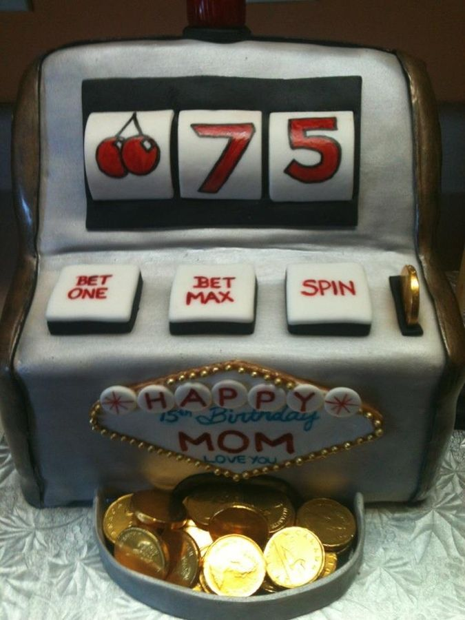 Slot Machine 75th Birthday — Poker Cakes / Las Vegas / Casino / Gambling