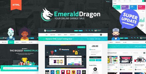 Emerald Dragon Online Marketplace HTML Multipurpose Template V2.0