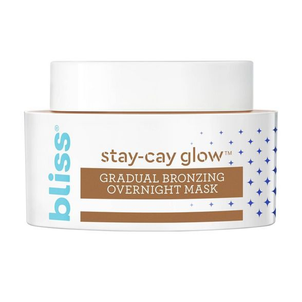 Bliss Stay Cay Glow Gradual Bronzing Overnight Mask 1 7 Fl Oz In