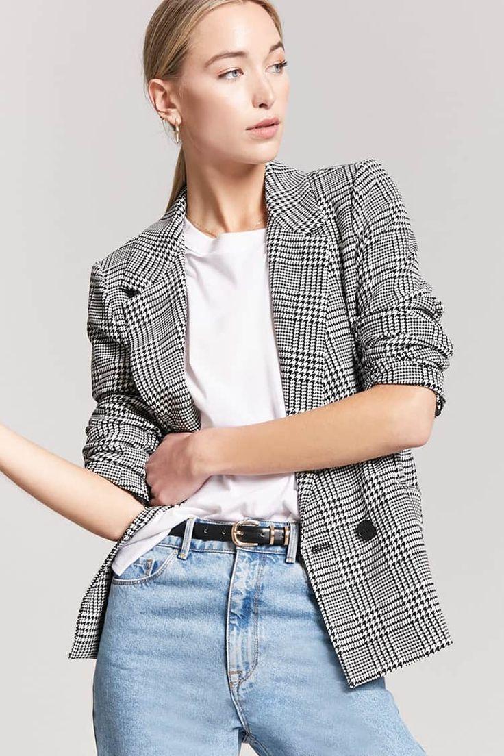 Product Name:Glen Plaid Blazer, Category:outerwear_blazers, Price:34.9