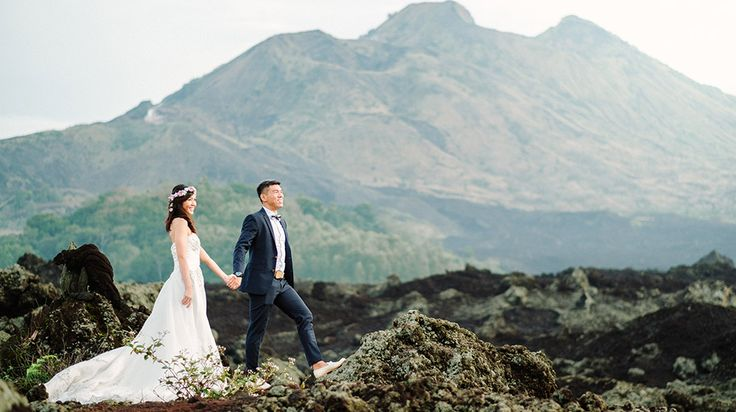 Brandon & Susanny's Full Day Bali Pre-Wedding Photography. Beautiful sunrise from the peak of mount Batur is one of the best experience in Bali, for you who love adventurous, enjoying the view of Mount Batur for Sunrise is like sitting on a goldmine. Centering on the spectacular volcanic caldera of Mt. Batur with its deep crater lake and bubbling hot springs, is very fertile and rugged with a high and wild beauty. #bali #engagement #wedding #photography