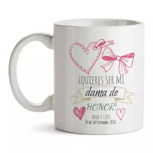 tazas para damas de honor  como pedir que sean damas de honor