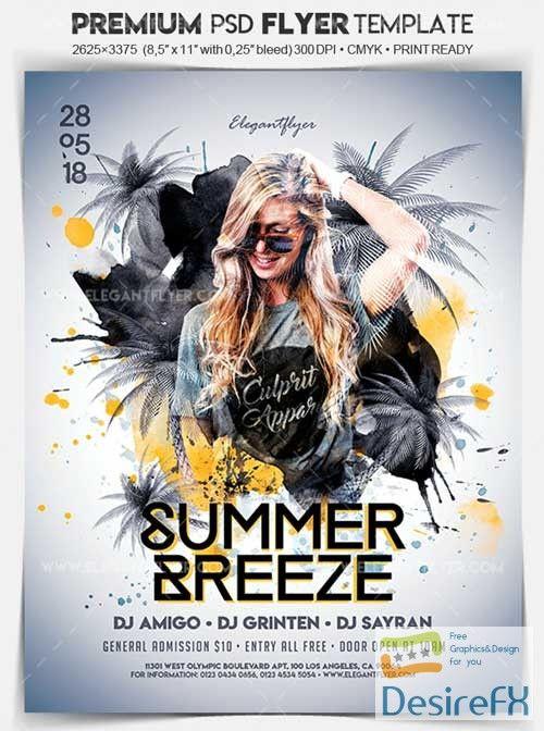 Summer Breeze V1 2018 Flyer PSD Template + Facebook Cover