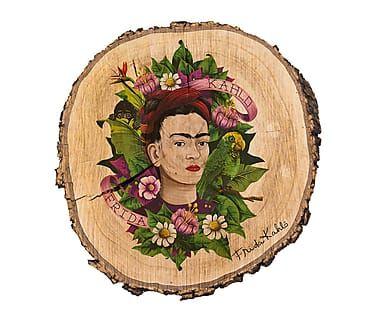 Decoración en madera Frida Kahlo - Ø30 cm