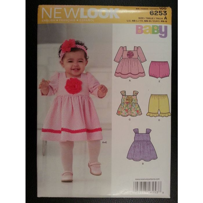 New Look 6253 Baby Dress,Pants,Panties sewing pattern sizes Newborn - Large Listing in the Childrens,Sewing,Patterns,Sewing,Crafts, Handmade & Sewing Category on eBid Canada | 151884539