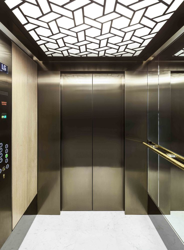 Laser cut screen - Linton House, London - Elevator ceilng - design by Miles and Lincoln. www.milesandlincoln.com