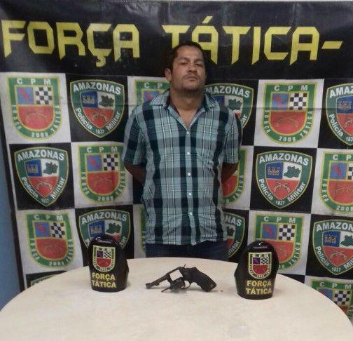 Força Tática prende infrator com arma de fogo na zona norte de Manaus