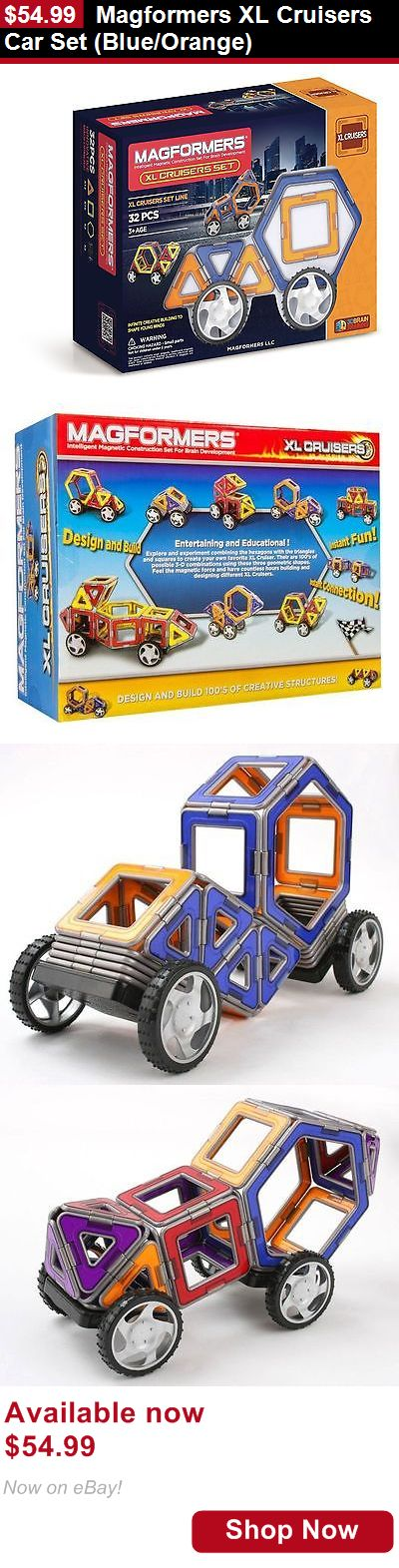 Other Nursery Bedding: Magformers Xl Cruisers Car Set (Blue/Orange) BUY IT NOW ONLY: $54.99