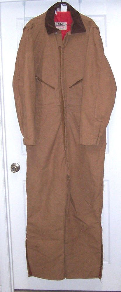 Walls Insulated Coveralls Men's 2XL Tall Blizzard Pruf Quilt Lined 50-52  #Walls #Coveralls