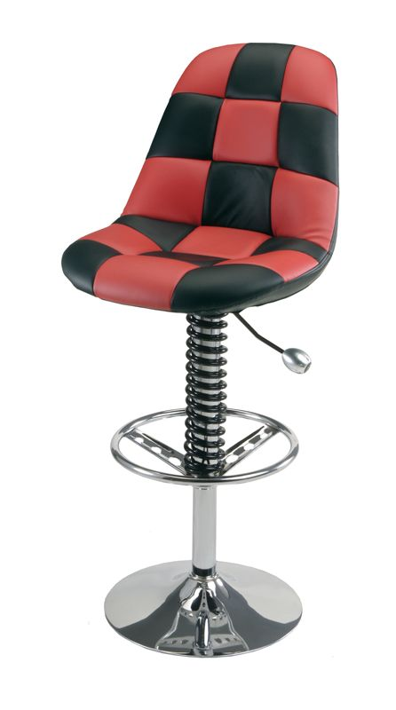 Comfy Red Checkered Car Bar Chair Car Guy Garage Shop