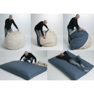 Bean2Bed Beanbag - brilliant! Previous pinner saw this on QVC and Shark Tank and it looks like a great idea!